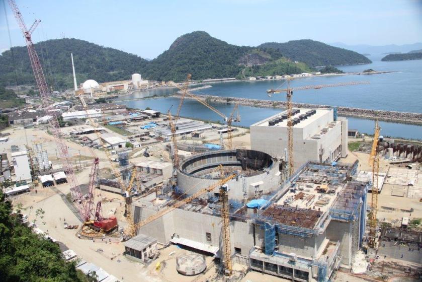 Construção da usina Angra 3/Eletrobrás/Divulgação