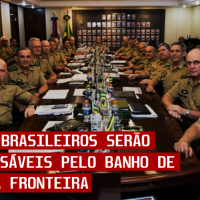 Generais serão os responsáveis por banho de sangue na Fronteira do Brasil e Venezuela.