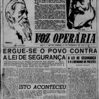 """#70anos: 19 de fevereiro de 1949 - """"ERGUE-SE O POVO CONTRA A LEI DE SEGURANÇA"""""""