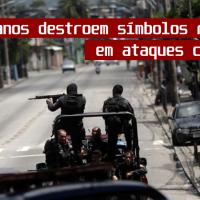 MILICIANOS DESTROEM SÍMBOLO CRISTÃO EM ATAQUE CRIMINOSO