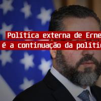 Política externa de Ernesto Araújo é a continuação da política do PSDB