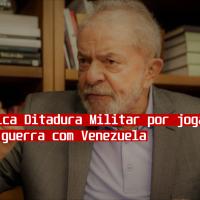 """Presidente Lula critica militares por transformarem brasil em """"bucha de canhão"""""""