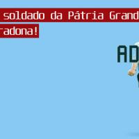 Vivas ao soldado da Pátria Grande, adiós Maradona!