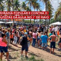 a luta por moradia popular e contra o governo golpistas dá aula no 1° de maio