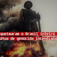 Militares que queimaram o Brasil inteiro reclamam de uma estátua incendiada